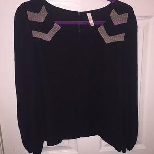 NWOT. Black long sleeve blouse